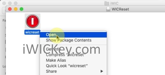 open wicreset tool on mac os